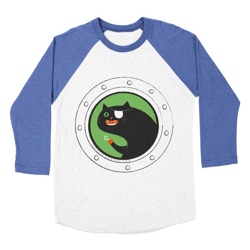 Pirate Cat Women's Baseball Triblend T-Shirt by thiagoegg's Artist Shop