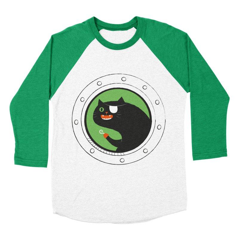 Pirate Cat Women's Baseball Triblend Longsleeve T-Shirt by thiagoegg's Artist Shop