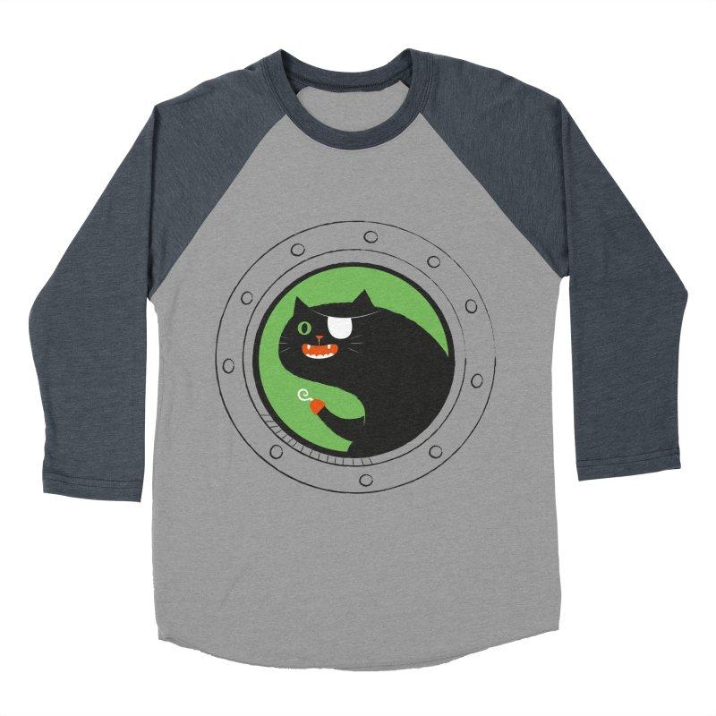 Pirate Cat Men's Baseball Triblend Longsleeve T-Shirt by thiagoegg's Artist Shop