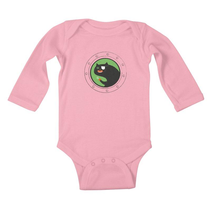 Pirate Cat Kids Baby Longsleeve Bodysuit by thiagoegg's Artist Shop