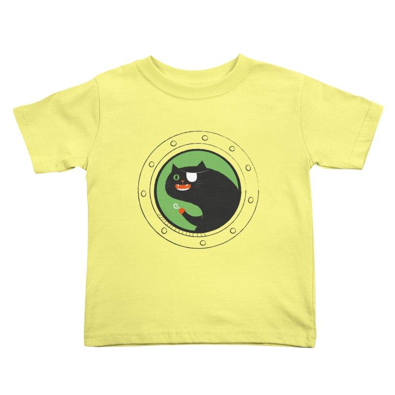 Pirate Cat Kids Toddler T-Shirt by thiagoegg's Artist Shop
