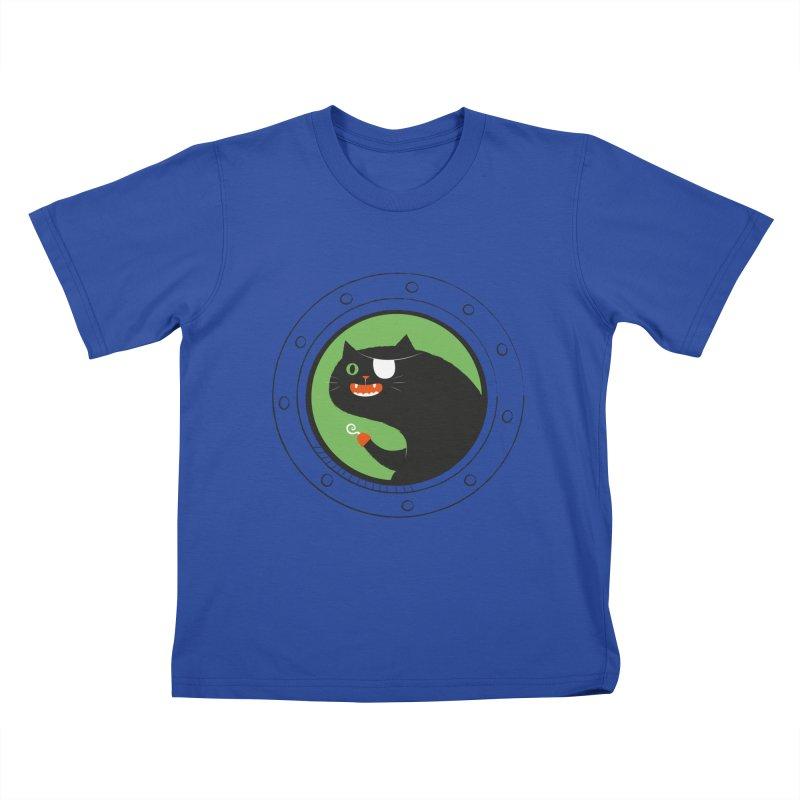 Pirate Cat Kids T-Shirt by thiagoegg's Artist Shop