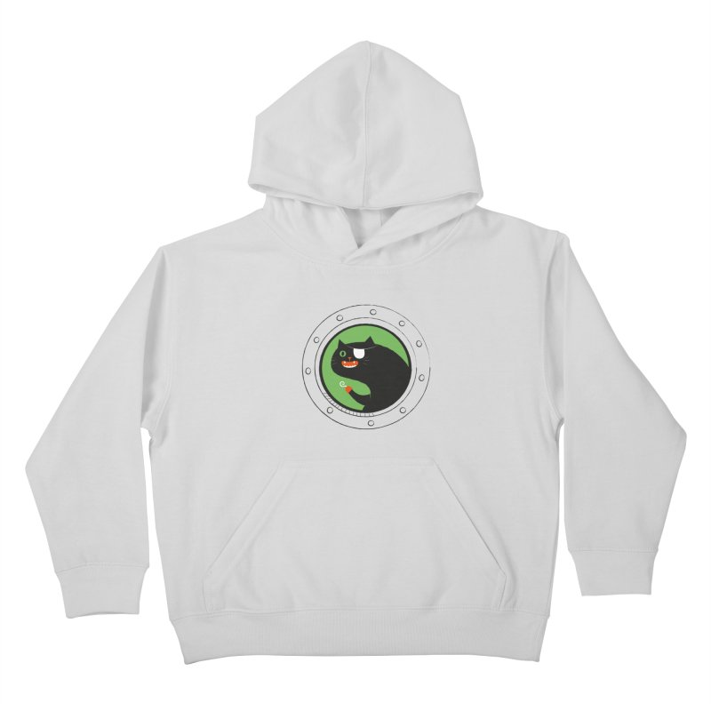 Pirate Cat Kids Pullover Hoody by thiagoegg's Artist Shop