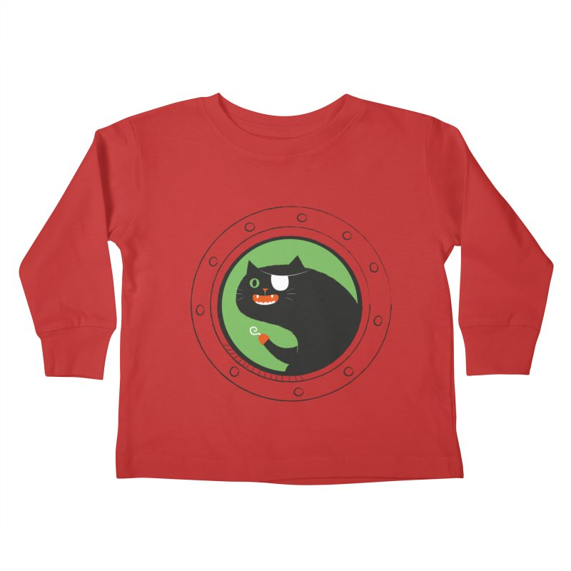Pirate Cat Kids Toddler Longsleeve T-Shirt by thiagoegg's Artist Shop