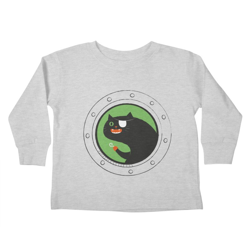 Pirate Cat Kids Toddler Longsleeve T-Shirt by thiagoegg's Artist Shop