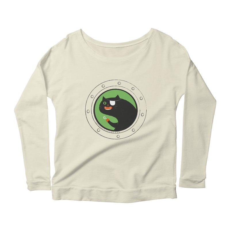 Pirate Cat Women's Scoop Neck Longsleeve T-Shirt by thiagoegg's Artist Shop