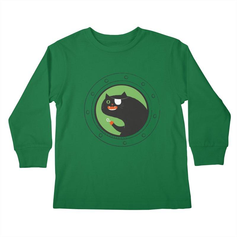 Pirate Cat Kids Longsleeve T-Shirt by thiagoegg's Artist Shop