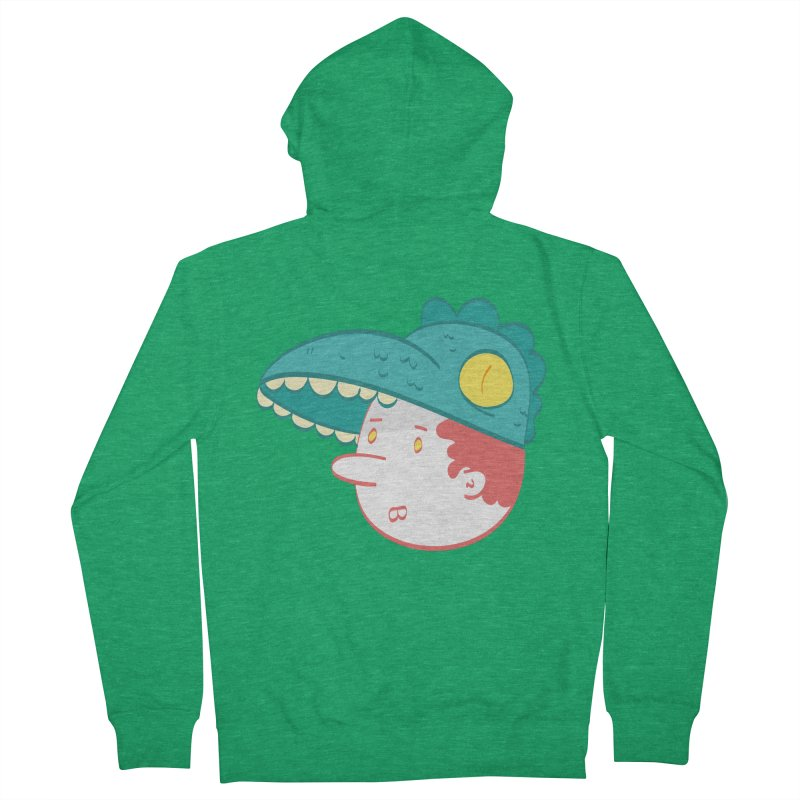 Dino Boy Women's Zip-Up Hoody by thiagoegg's Artist Shop