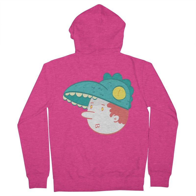 Dino Boy Women's French Terry Zip-Up Hoody by thiagoegg's Artist Shop