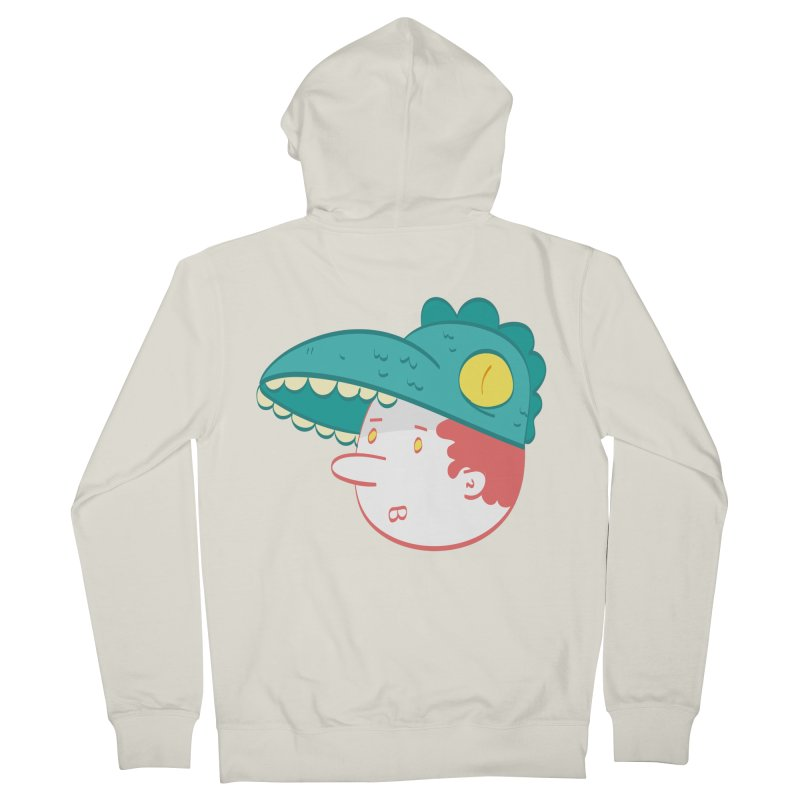 Dino Boy Men's French Terry Zip-Up Hoody by thiagoegg's Artist Shop