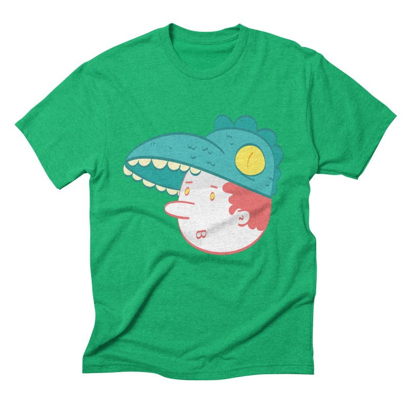 Dino Boy Men's Triblend T-Shirt by thiagoegg's Artist Shop