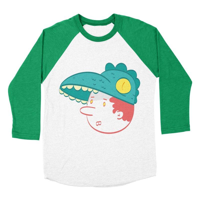Dino Boy Men's Baseball Triblend T-Shirt by thiagoegg's Artist Shop