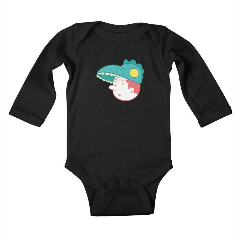 Dino Boy Kids Baby Longsleeve Bodysuit by thiagoegg's Artist Shop