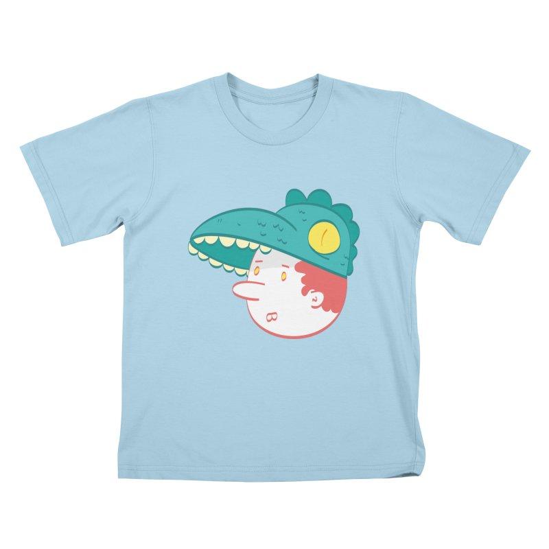Dino Boy Kids T-Shirt by thiagoegg's Artist Shop