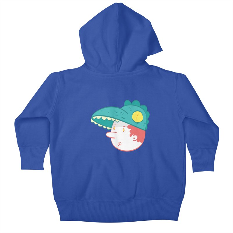 Dino Boy Kids Baby Zip-Up Hoody by thiagoegg's Artist Shop