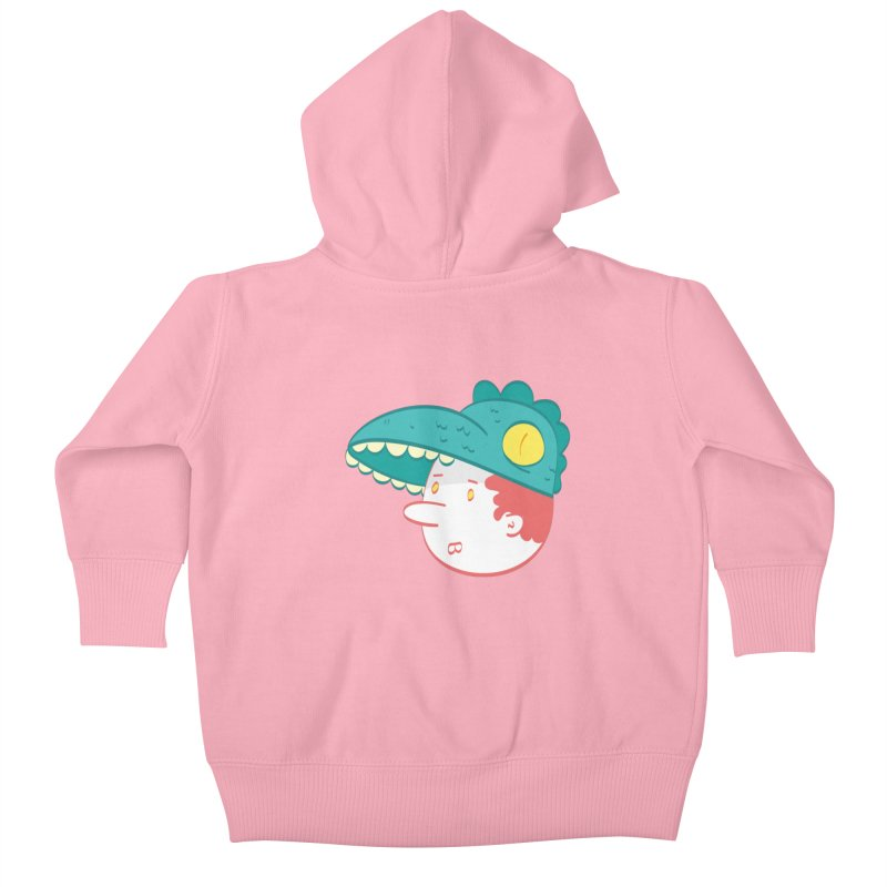 Dino Boy Kids Baby Zip-Up Hoody by thiagoegg's Artist Shop
