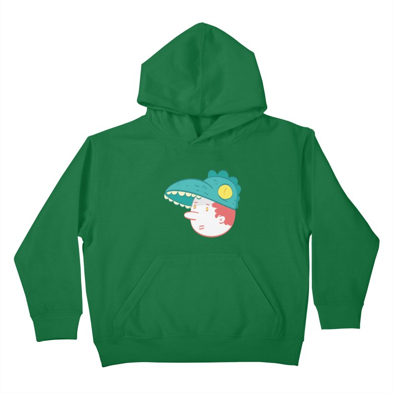 Dino Boy Kids Pullover Hoody by thiagoegg's Artist Shop