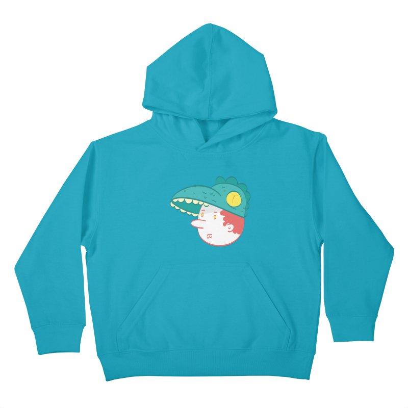 Dino Boy Kids Pullover Hoody by thiagoegg's Artist Shop