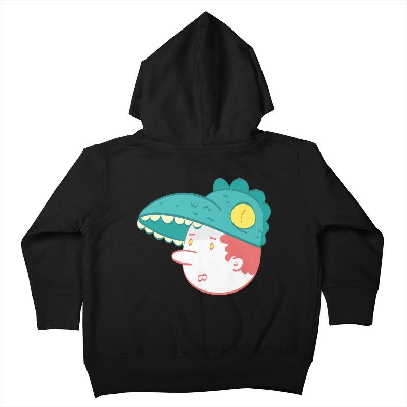 Dino Boy Kids Toddler Zip-Up Hoody by thiagoegg's Artist Shop