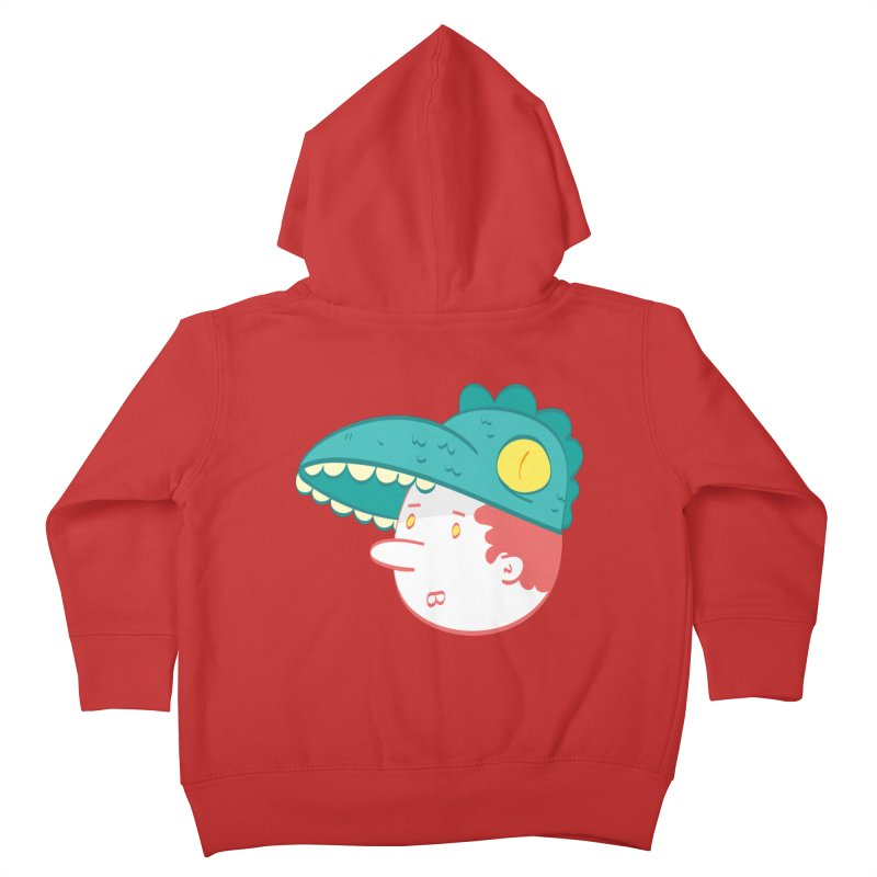 Dino Boy Kids Toddler Zip-Up Hoody by thiagoegg's Artist Shop