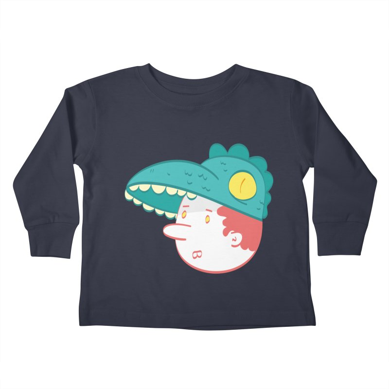 Dino Boy Kids Toddler Longsleeve T-Shirt by thiagoegg's Artist Shop