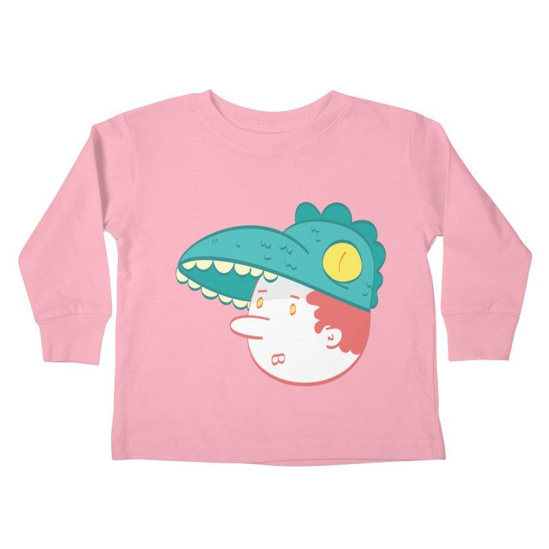 Dino Boy Kids Toddler Longsleeve T-Shirt by thiagoegg's Artist Shop