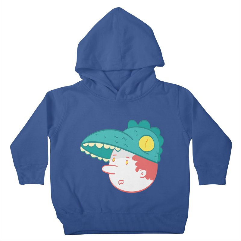 Dino Boy Kids Toddler Pullover Hoody by thiagoegg's Artist Shop
