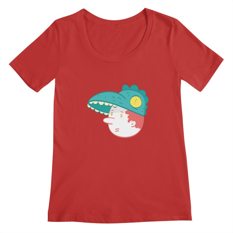 Dino Boy Women's Regular Scoop Neck by thiagoegg's Artist Shop