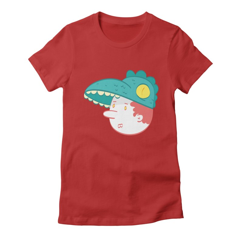 Dino Boy Women's Fitted T-Shirt by thiagoegg's Artist Shop
