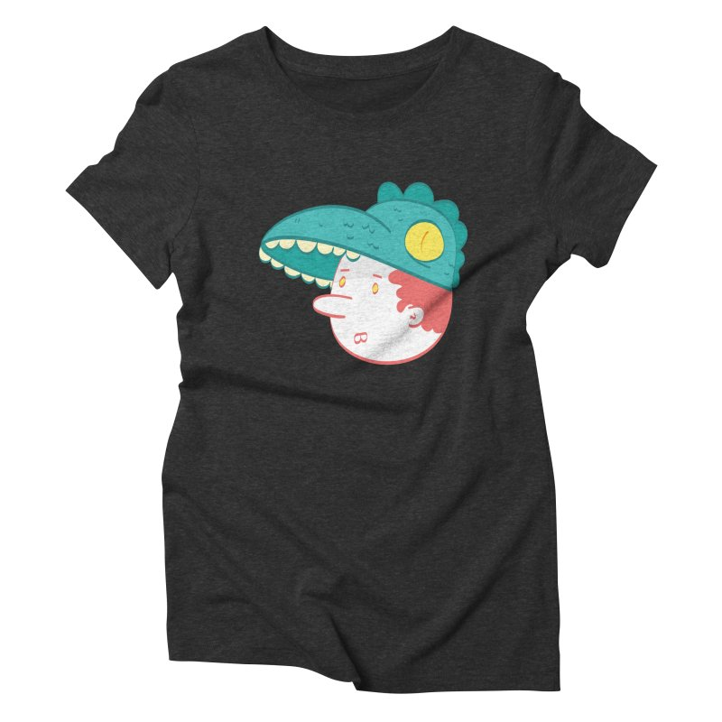 Dino Boy Women's Triblend T-Shirt by thiagoegg's Artist Shop