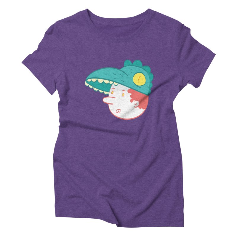 Dino Boy Women's Triblend T-Shirt by thiagoegg's Artist Shop