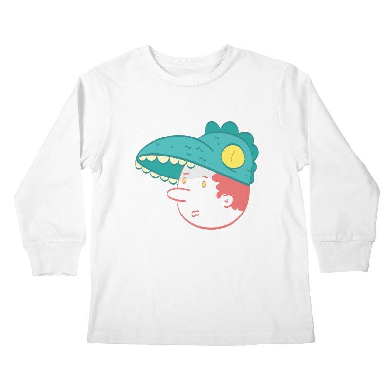 Dino Boy Kids Longsleeve T-Shirt by thiagoegg's Artist Shop
