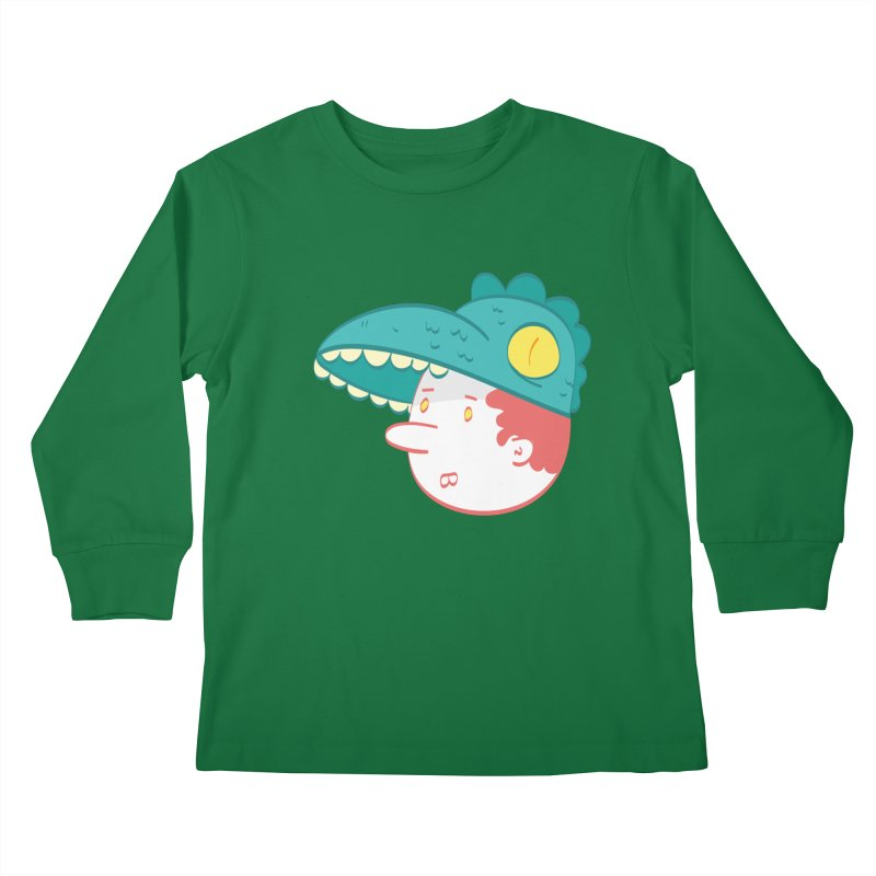 Dino Boy Kids Longsleeve T-Shirt by thiagoegg's Artist Shop
