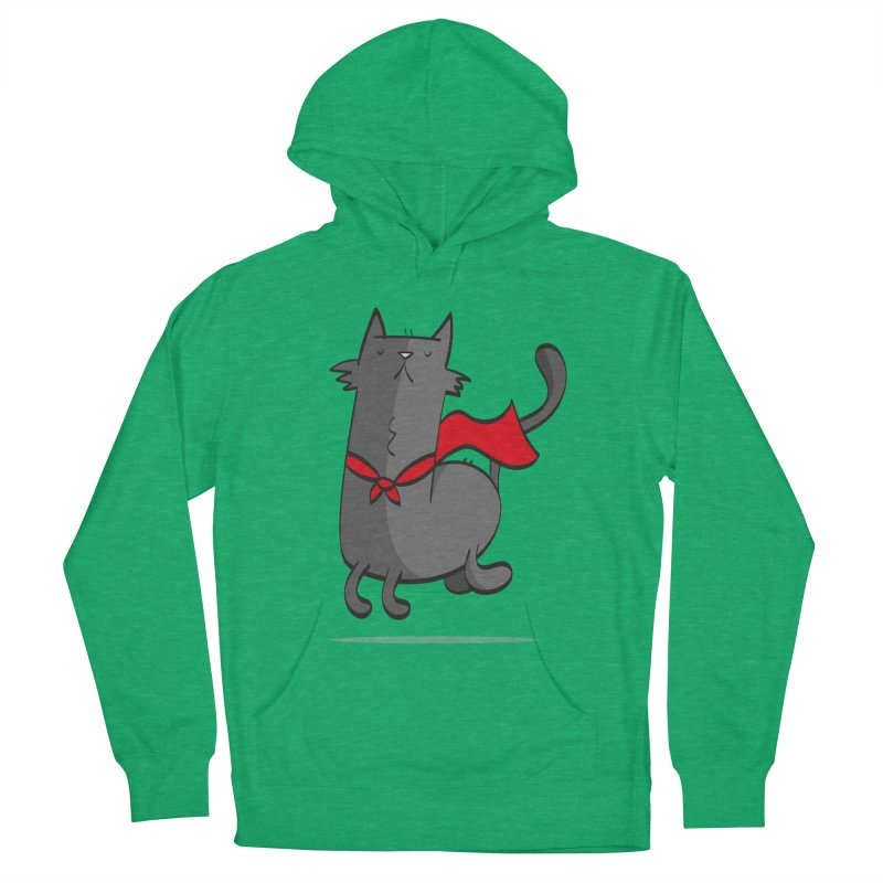 Super Cat Women's French Terry Pullover Hoody by thiagoegg's Artist Shop
