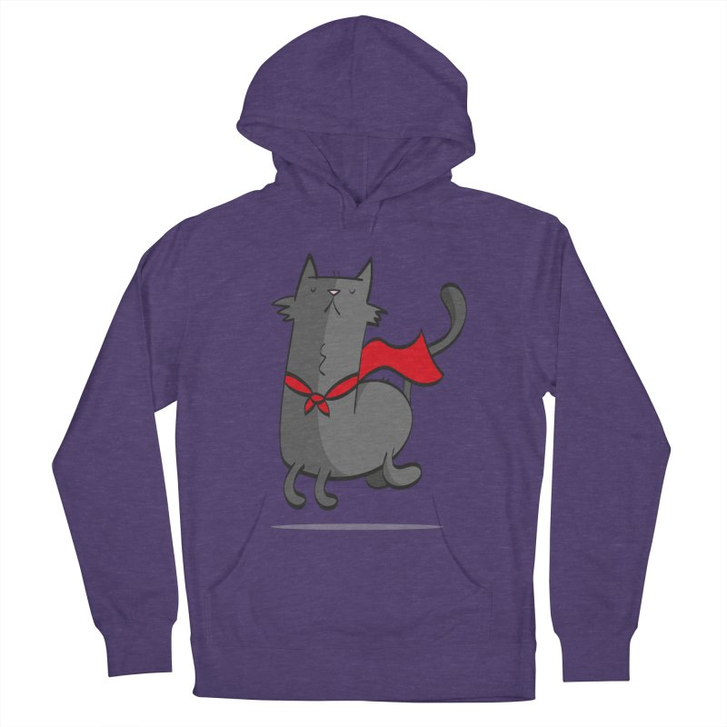 Super Cat Men's French Terry Pullover Hoody by thiagoegg's Artist Shop