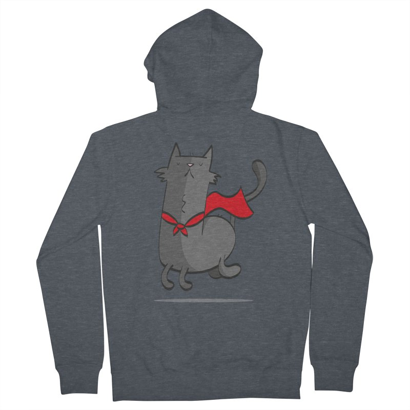 Super Cat Women's Zip-Up Hoody by thiagoegg's Artist Shop