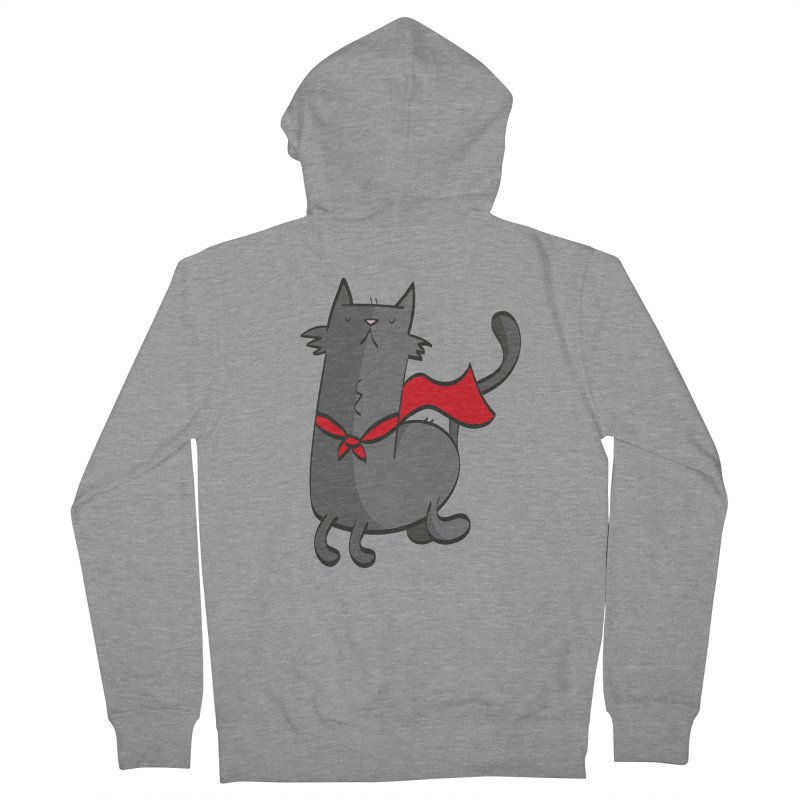 Super Cat Women's French Terry Zip-Up Hoody by thiagoegg's Artist Shop