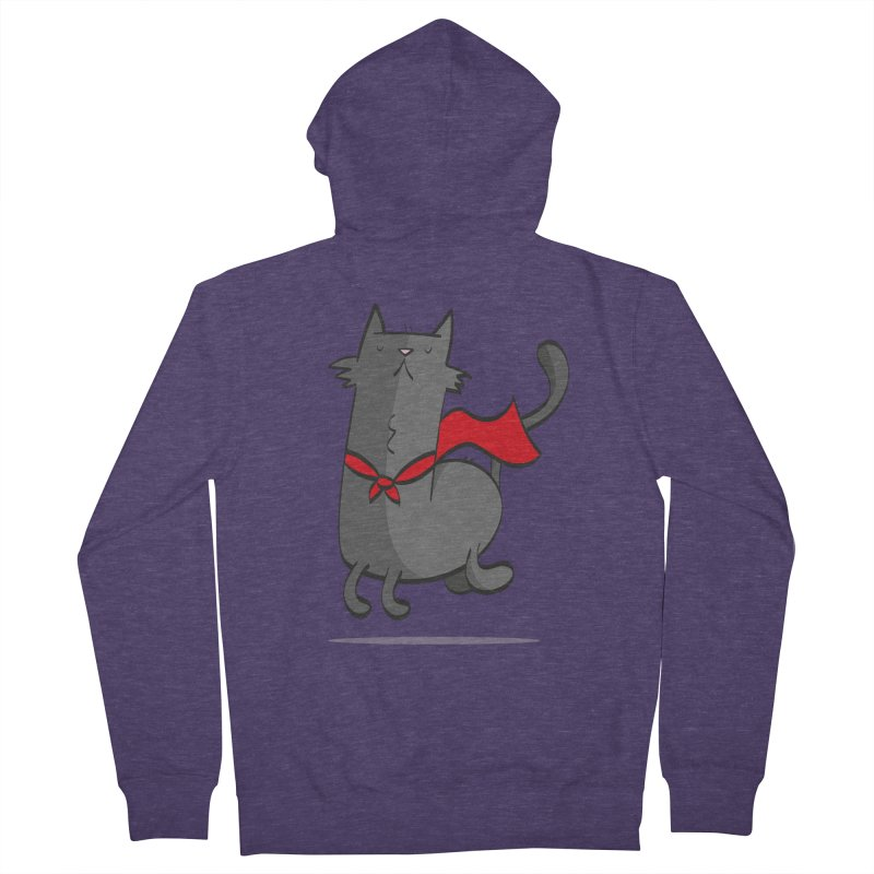 Super Cat Men's Zip-Up Hoody by thiagoegg's Artist Shop