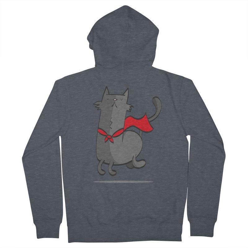 Super Cat Men's French Terry Zip-Up Hoody by thiagoegg's Artist Shop