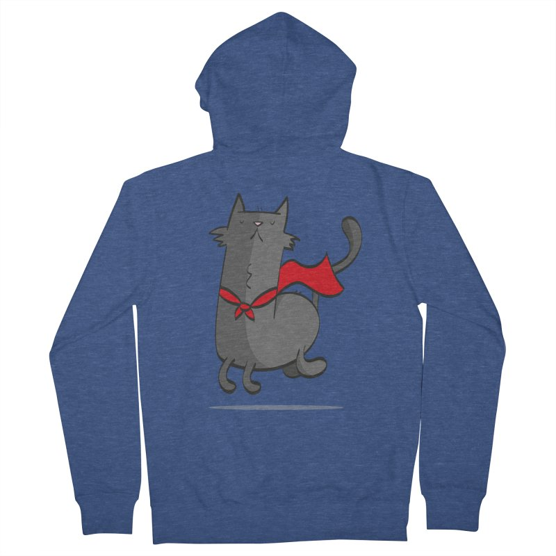 Super Cat Men's Zip-Up Hoody by thiagoegg's Artist Shop