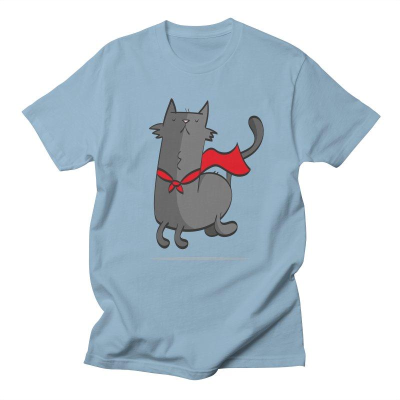 Super Cat Men's Regular T-Shirt by thiagoegg's Artist Shop
