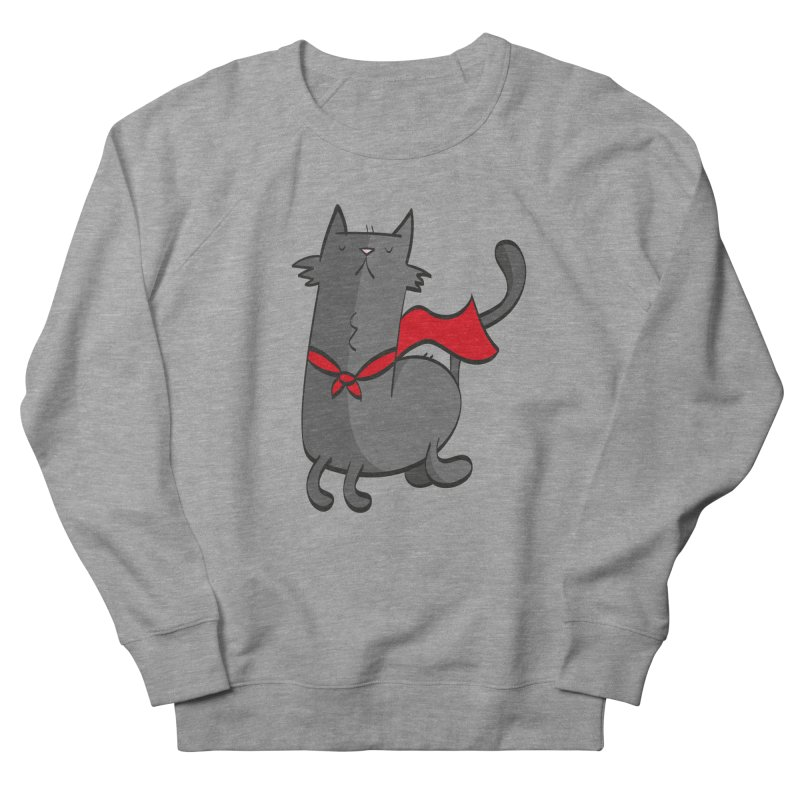 Super Cat Women's French Terry Sweatshirt by thiagoegg's Artist Shop