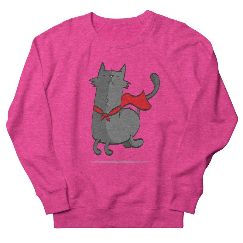 Super Cat Women's French Terry Sweatshirt by thiagoegg's Artist Shop