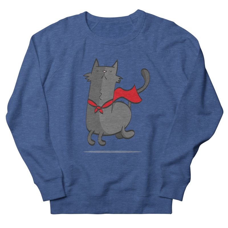 Super Cat Men's French Terry Sweatshirt by thiagoegg's Artist Shop