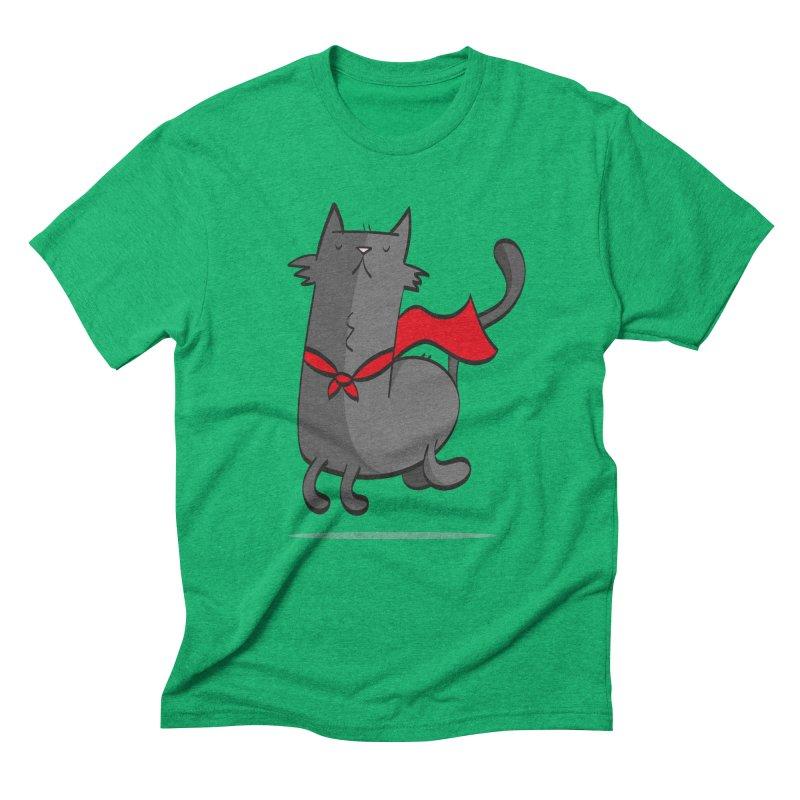Super Cat Men's Triblend T-Shirt by thiagoegg's Artist Shop