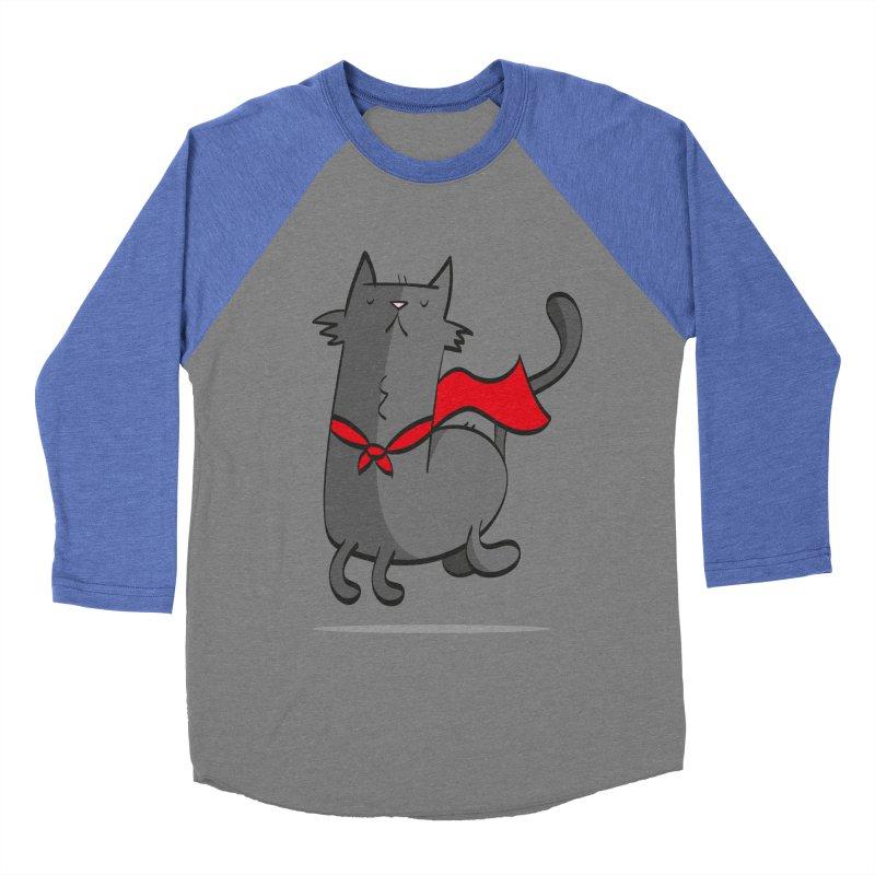 Super Cat Women's Baseball Triblend T-Shirt by thiagoegg's Artist Shop