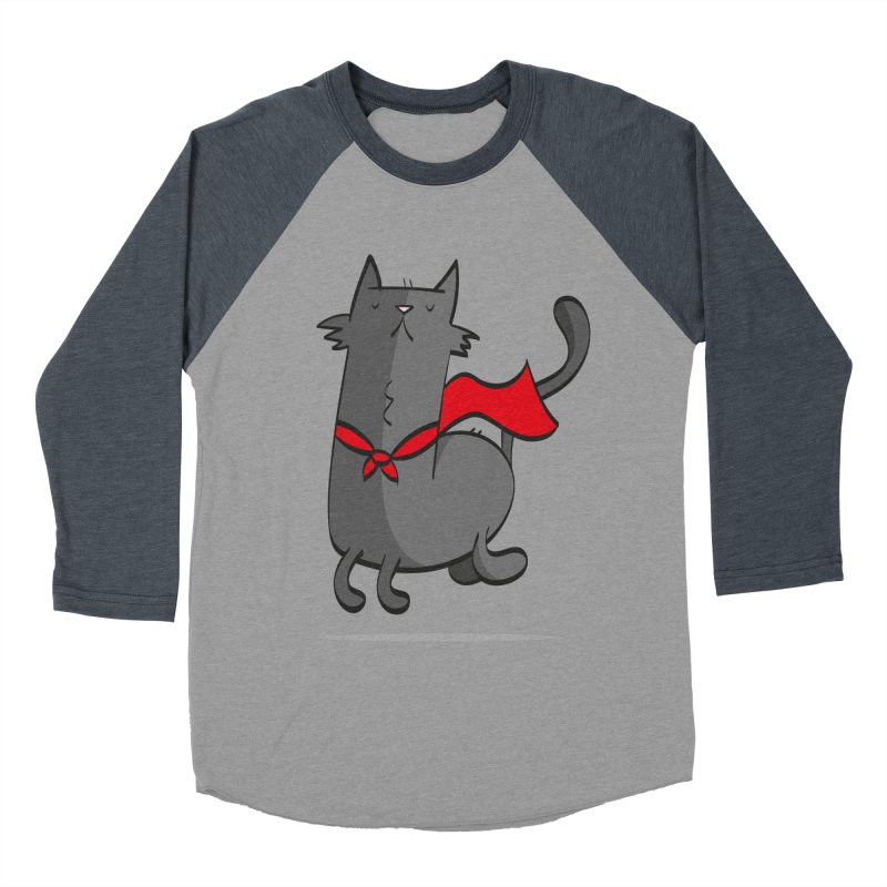 Super Cat Men's Baseball Triblend T-Shirt by thiagoegg's Artist Shop