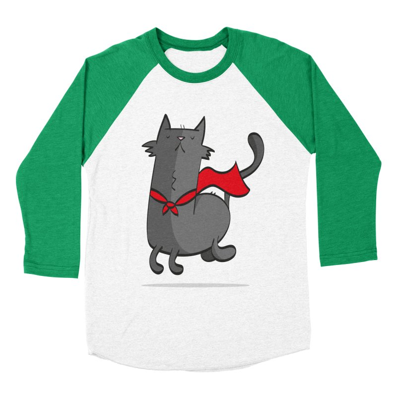 Super Cat Men's Baseball Triblend Longsleeve T-Shirt by thiagoegg's Artist Shop