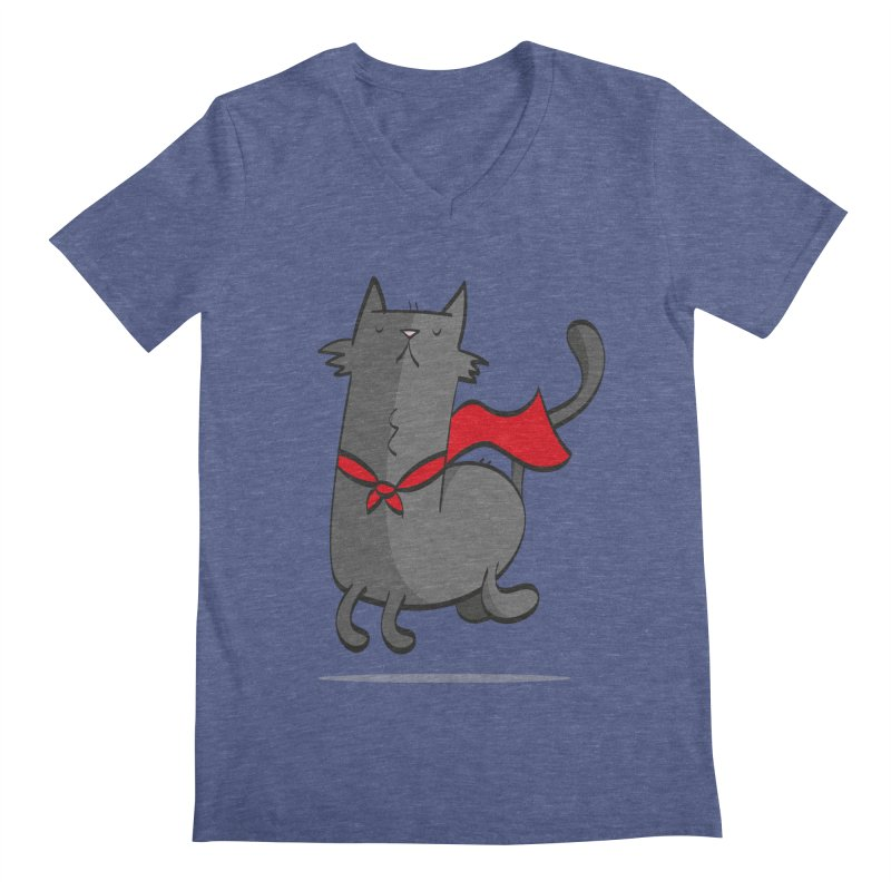 Super Cat Men's V-Neck by thiagoegg's Artist Shop