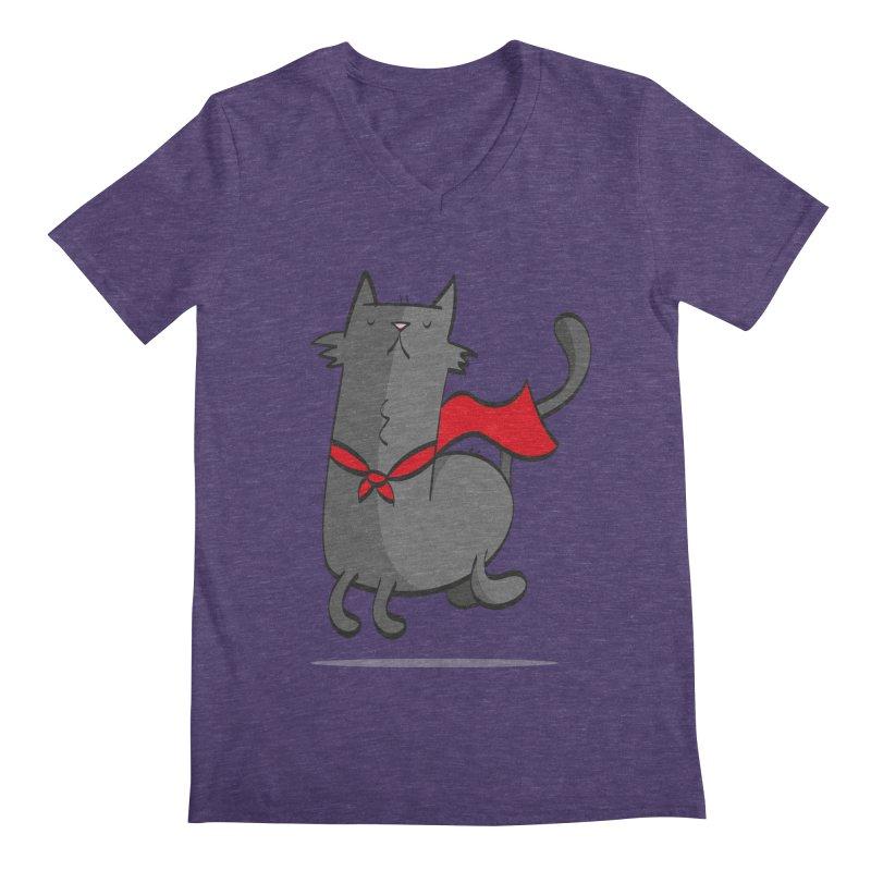 Super Cat Men's V-Neck by thiagoegg's Artist Shop